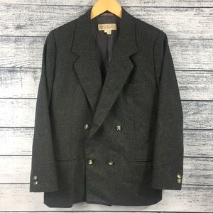 VINTAGE Gucci Double Breasted 💯% Wool Gray Blazer
